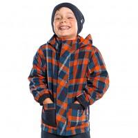 Демисезонная куртка на флисе с утеплителем для мальчика  NANO F14J651 Navy