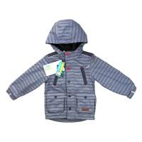 Демисезонная куртка на флисе для мальчика NANO S18J277 MidGreyMix