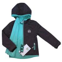Демисезонная куртка софтшелл для девочки NANO S18M1400 DkMouse Confetti