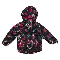 Демисезонная куртка на флисе для девочки NANO S17J272 Black Flower